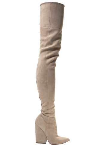 DIONNA ARMY GREEN SUEDE BOOT