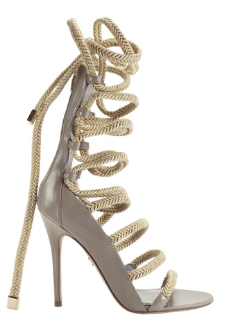 INDIA TAUPE CALF & GOLD SANDAL