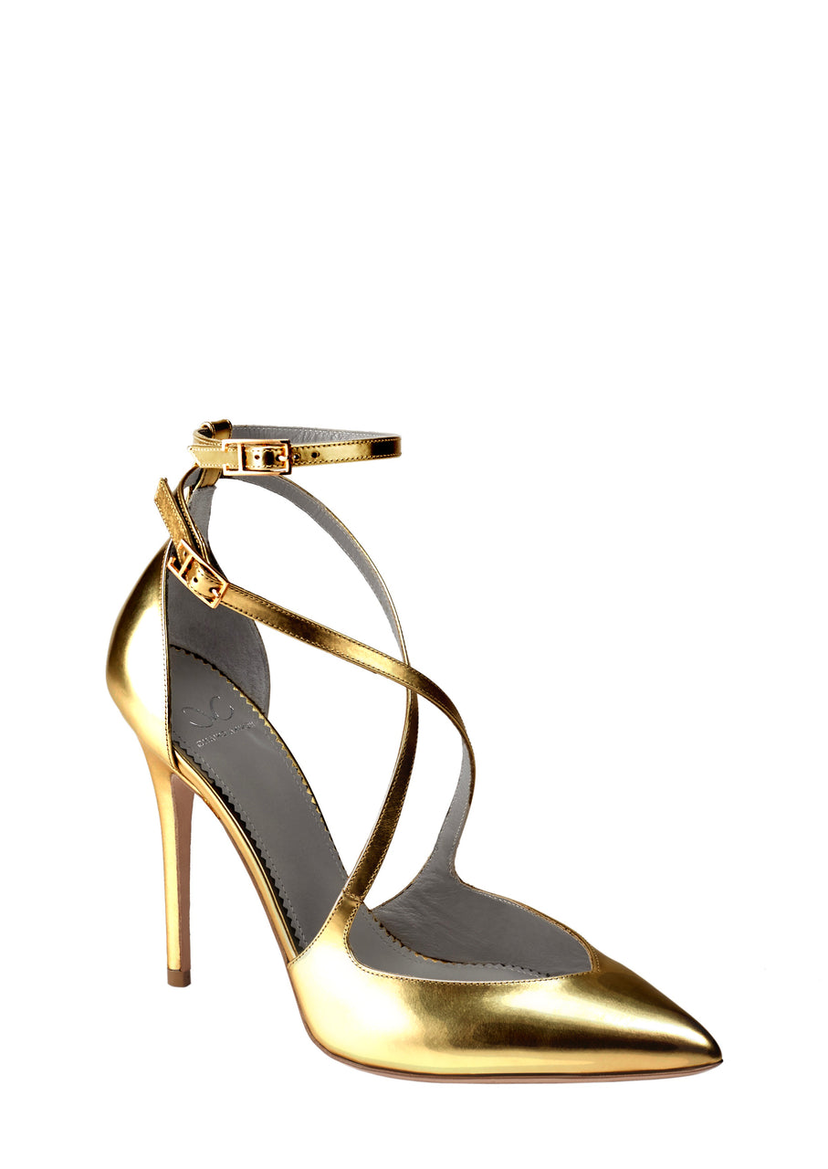 CAROLLA GOLD CALF PUMP - Monika Chiang