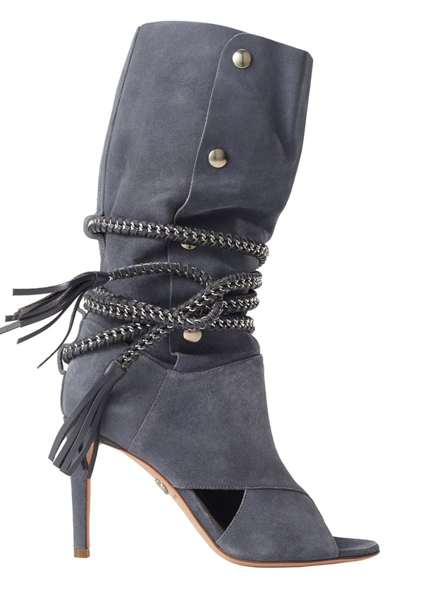 ARMENA DENIM SUEDE BOOT - Monika Chiang