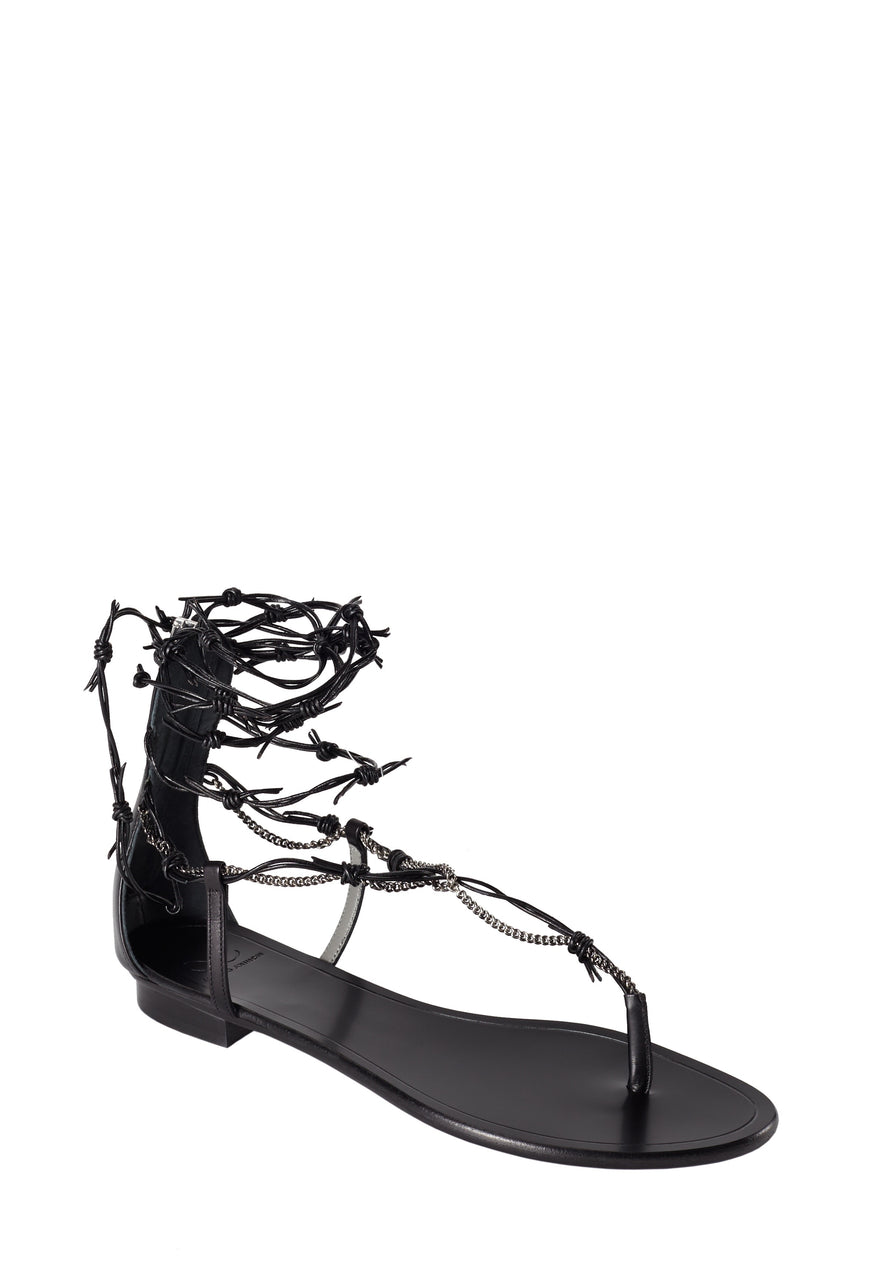 BARROS BLACK SANDAL - Monika Chiang