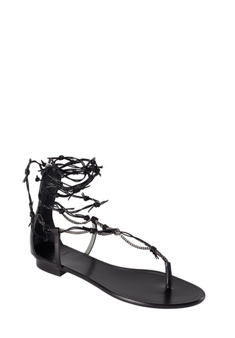 BARROS BLACK CALF SANDAL - Monika Chiang