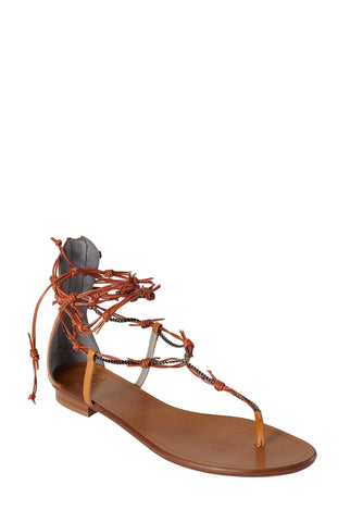BARROS TAN CALF SANDAL - Monika Chiang
