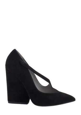 RAZA LIGHT GRAY VELVET PUMP