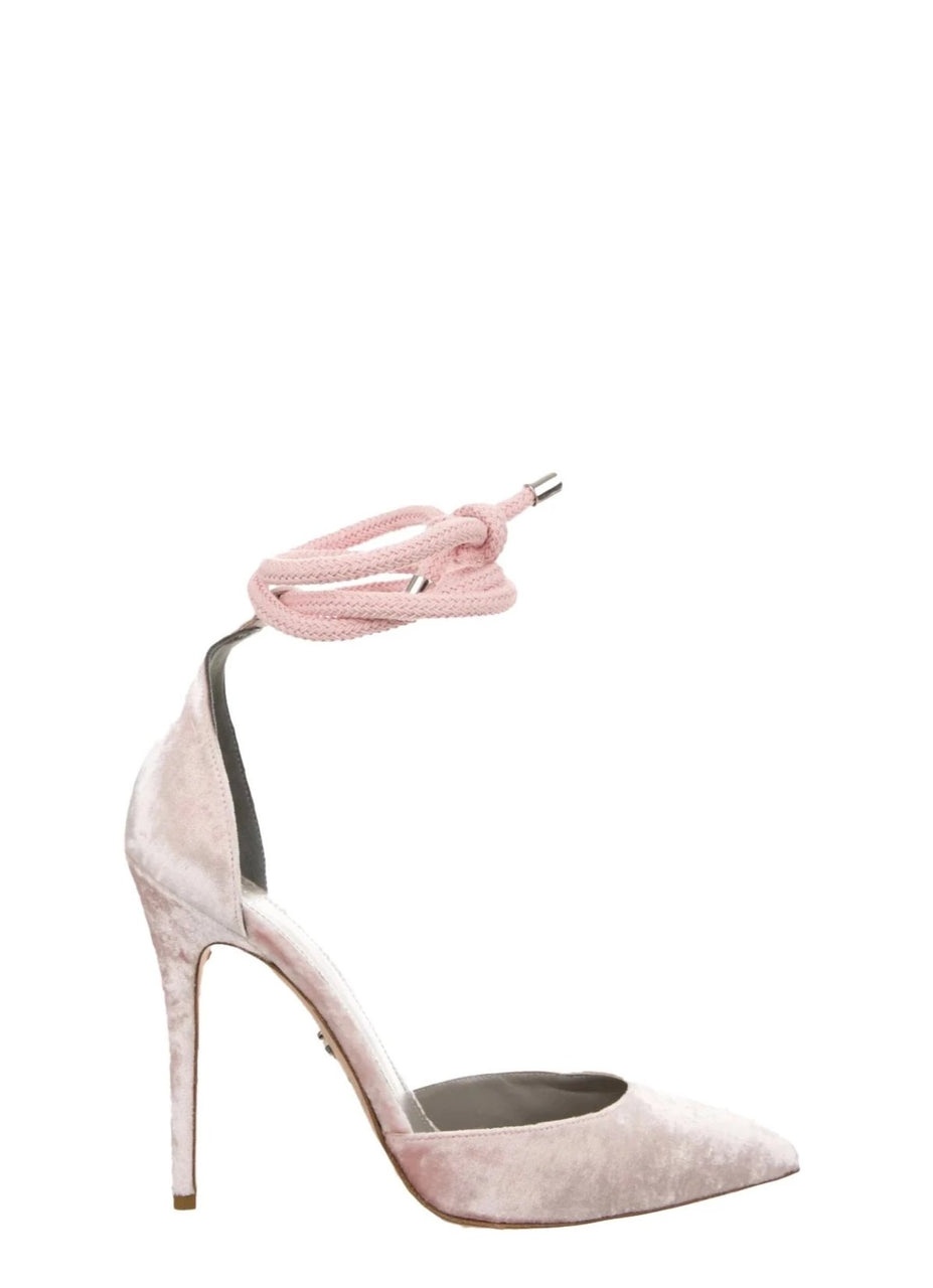 RAZA BLUSH VELVET PUMP