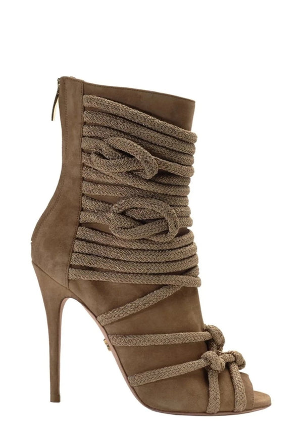 TALITA CHESTNUT SUEDE ANKLE BOOT - Monika Chiang