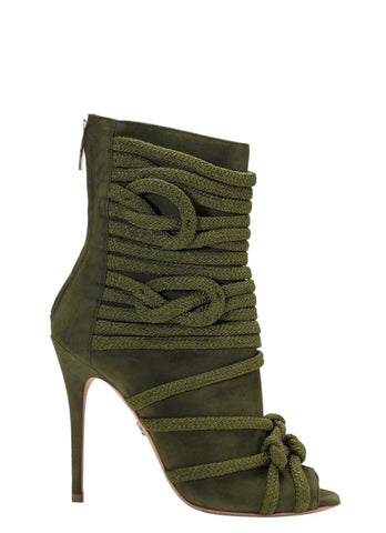 TALITA ARMY GREEN SUEDE ANKLE BOOT