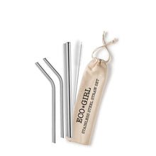 Load image into Gallery viewer, Eco*Girl Reusable Stainless Steel Straw Set