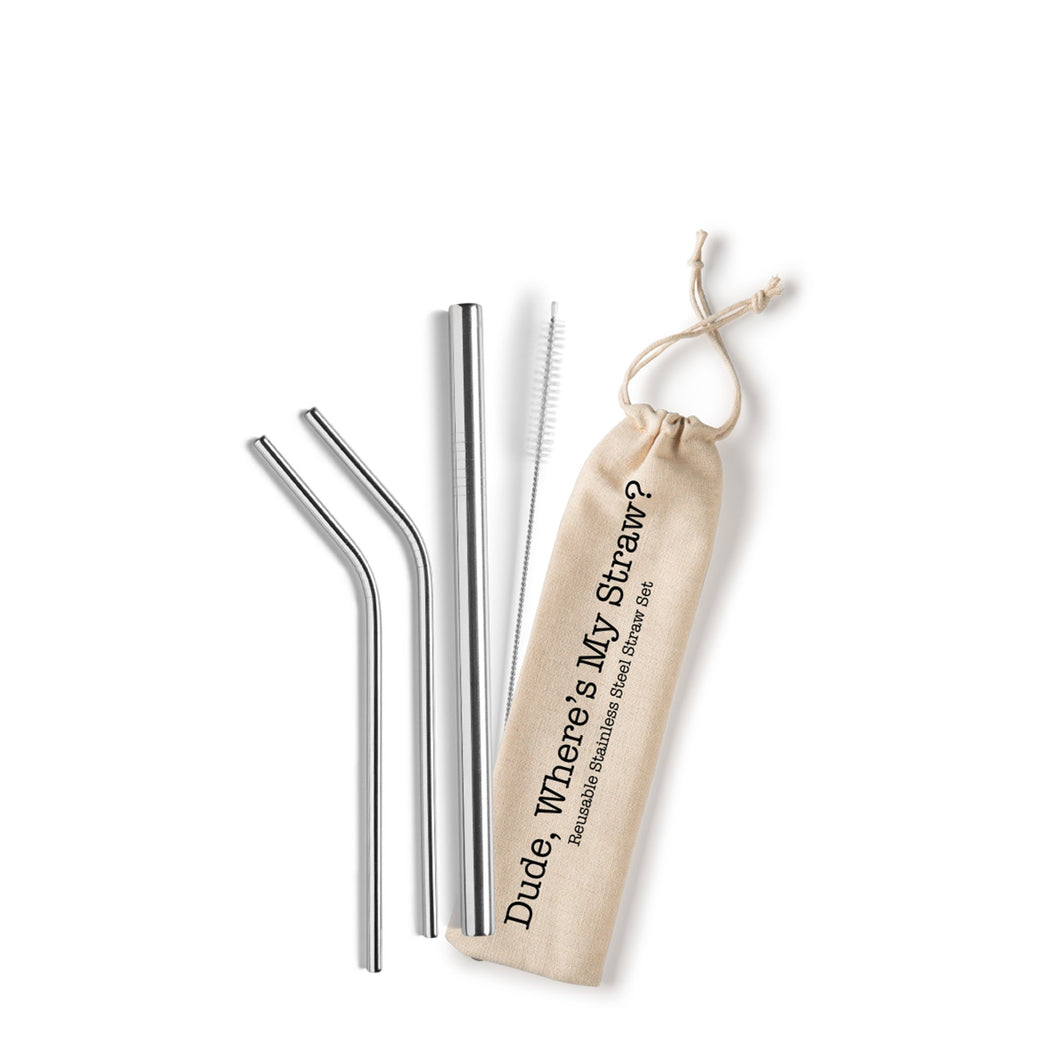 Dude, Where's My Straw? Reusable Straw Set