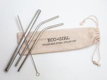 Load image into Gallery viewer, Eco Girl Reusable Straws for Gifts