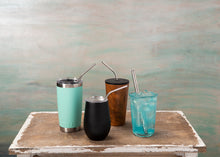 Load image into Gallery viewer, Saving The Sea One Cocktail at a Time Stainless Steel Straw Set