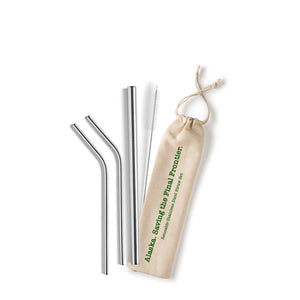 Alaska. Saving the Final Frontier Stainless Steel Straw Set
