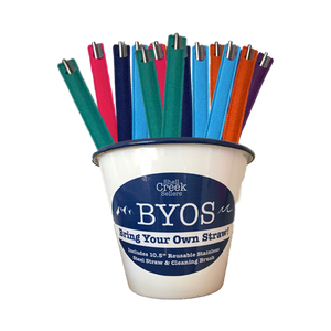 30 piece BYOS 10.5 inch Straw and Cleaner Sleeve Set WHOLESALE
