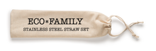 Load image into Gallery viewer, Eco Family Reusable Stainless Steel Straw Sets