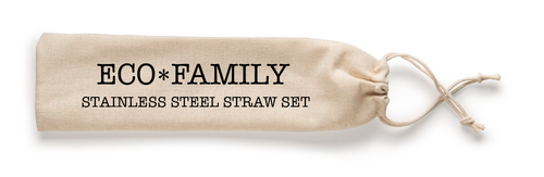 Eco Family Reusable Stainless Steel Straw Sets