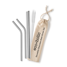 Load image into Gallery viewer, Eco-holic Gift Set with Reusable Straws