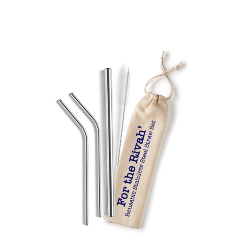 For the Rivah' Stainless Steel Straw Set