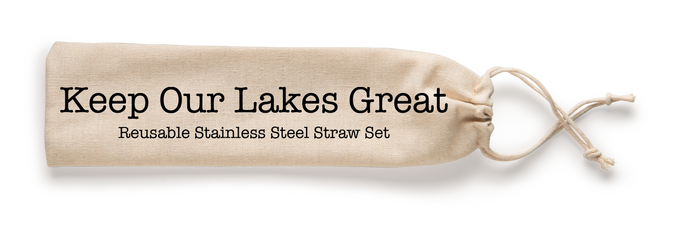 Keep Our Lakes Great Stainless Steel Straw Set