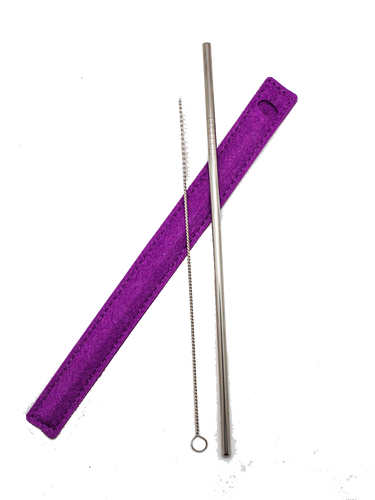 Purple Resale Reusable Straw Sets