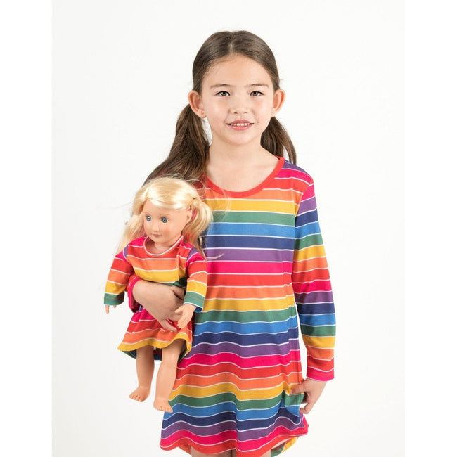 *Pre-Order* Matching Girl & Doll Nightgowns in Rainbow Stripe
