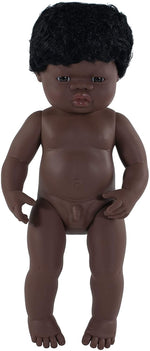 "Load image into Gallery viewer, *Pre-Order* Zane Miniland 15"" African Boy Doll"
