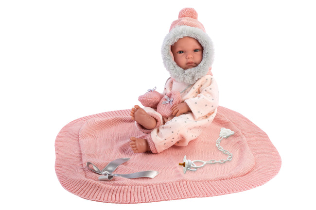 "PRE-ORDER: Tara 13.8"" Baby Girl Doll With Blanket"