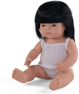 "Ellie Miniland 15"" Asian Girl Doll"