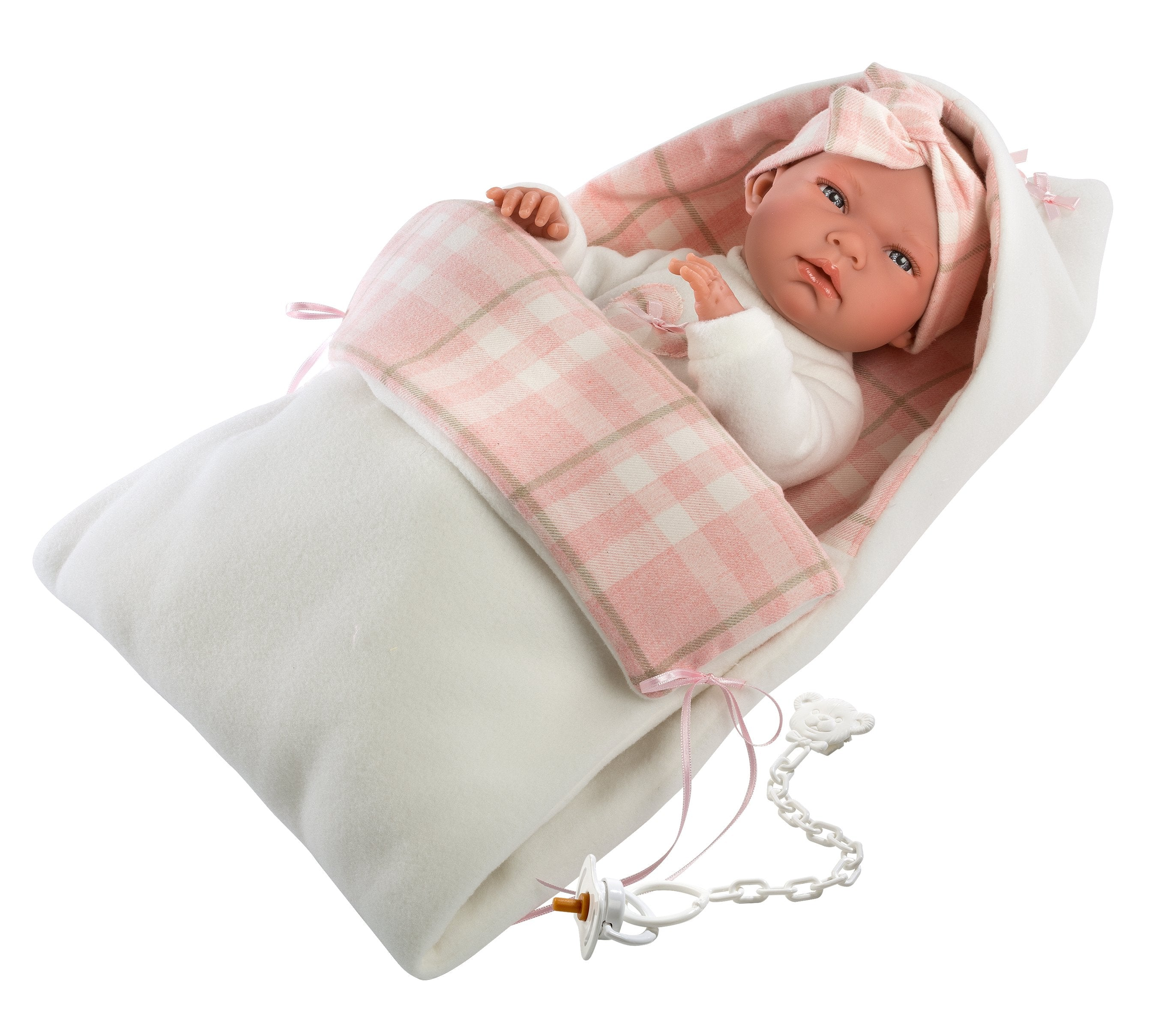 "PRE-ORDER: Emily 15.7"" Baby Girl Doll with Changing Bag"