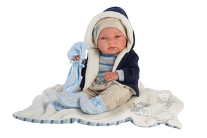"PRE-ORDER: Tim 15.7"" Baby Boy Doll with Blanket"
