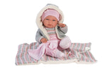 "Load image into Gallery viewer, PRE-ORDER: Tina 15.7"" Baby Baby Doll Tina With Blanket"