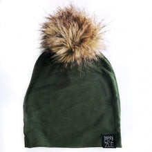 Load image into Gallery viewer, Slouchy Beanie - Olive-beanie-Mandizzle