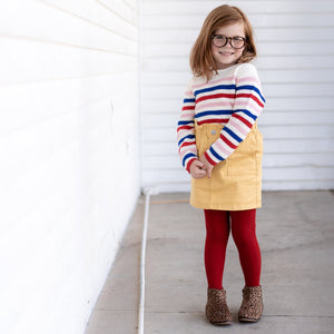 True Red Cable Knit Tights