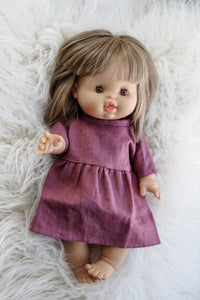 Minikane Linen Faustine Dress in Grape