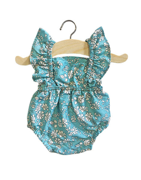 *PRE-ORDER* Minikane Lou Retro Romper in Liberty of London Capel Sea Green