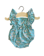 Load image into Gallery viewer, *PRE-ORDER* Minikane Lou Retro Romper in Liberty of London Capel Sea Green
