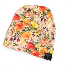 Load image into Gallery viewer, Organic Slouchy Beanie - Fall Floral-beanie-Mandizzle