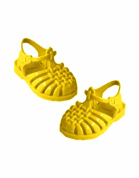 Jelly Sandals for Minikane Dolls in Sunshine Yellow