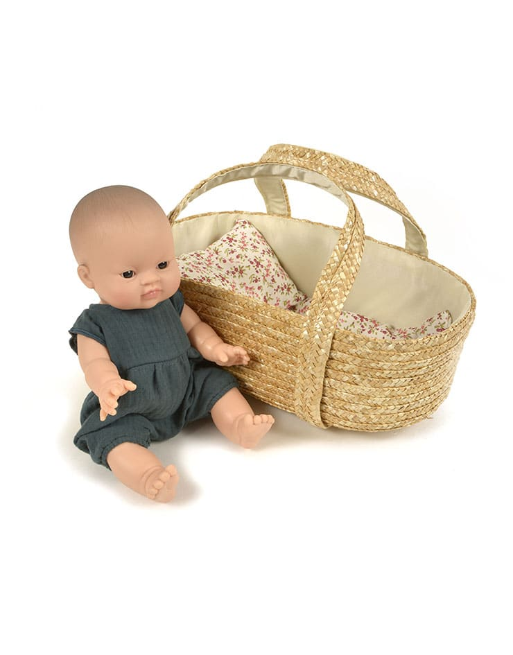 *PRE-ORDER* Minikane|Mini Mommy Hand Woven Doll Bassinet
