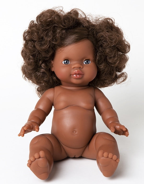 *PRE-ORDER* Minikane Charlie Black Baby Girl Doll with Blue Eyes