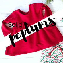 Load image into Gallery viewer, Peplum Top - Solids + Dots