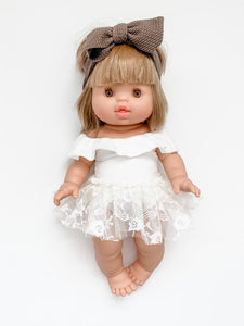 *Pre-order* Ivory + Lace Tulle Skirt for Minikane Doll