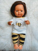 Load image into Gallery viewer, Matching Girl & Doll Cotton Bee Pajamas