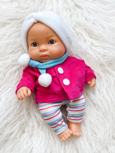 "Winter Set for 8.25"" Miniland and Minikane Newborn Dolls"