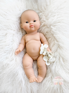 Minikane Lucy Asian Baby Girl Doll Brown Eyes