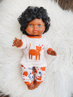 Load image into Gallery viewer, Matching Girl & Doll Kitty Pajamas: SIZE 3T