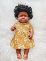 "Load image into Gallery viewer, Kendi Miniland 15"" African American Girl Doll"
