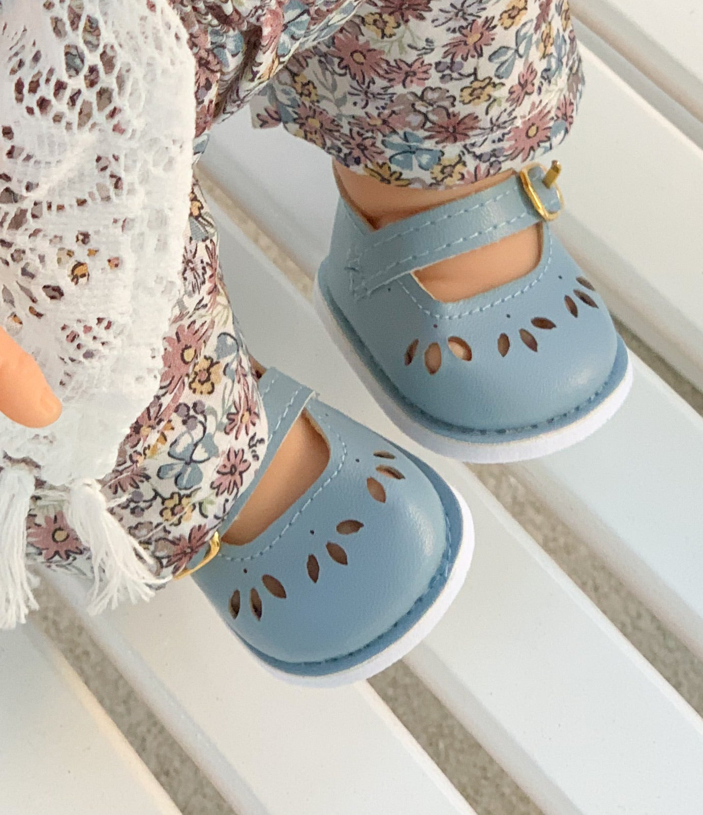 Doll Shoes in Blue