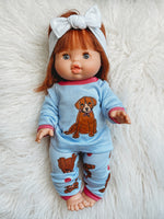 Load image into Gallery viewer, Matching Girl & Doll Doggy Pajamas: 3T