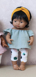 "Load image into Gallery viewer, Emilia Miniland 15"" Hispanic Girl Doll"