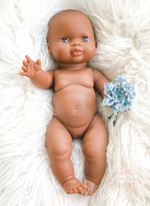 Load image into Gallery viewer, Minikane Remi Black Baby Girl Doll Blue Eyes